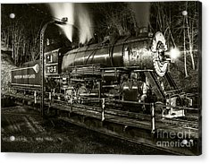 Train Turntable In Frostburg Maryland Acrylic Print