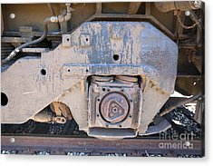 Train Wheel Acrylic Print by Russell Christie