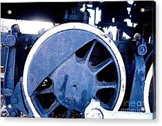 Train Wheel Acrylic Print by Thomas Marchessault