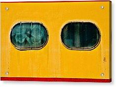 Train Window Acrylic Print by Bud Simpson