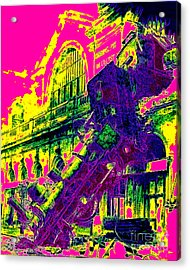 Train Wreck At Montparnasse Station 20130525 Acrylic Print by Wingsdomain Art and Photography