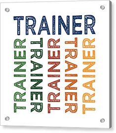 Trainer Cute Colorful Acrylic Print by Flo Karp