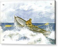 Training  Acrylic Print by Nancy Patterson