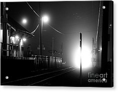 Trains Arriving Acrylic Print
