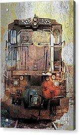 Trains At Rest Acrylic Print