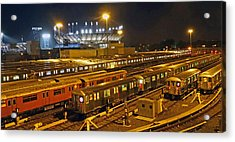 Trains Nyc Acrylic Print