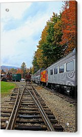 Acrylic Print featuring the photograph Trains Of Nh by Amazing Jules