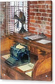 Trains - Station Master's Office Acrylic Print by Susan Savad