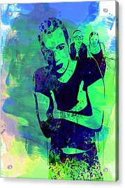 Trainspotting Watercolor 2 Acrylic Print by Naxart Studio
