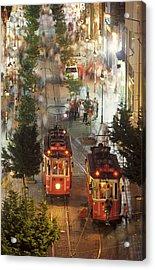 Trams In Beyoglu Acrylic Print