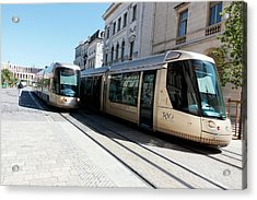 Trams In Orleans Acrylic Print by Louise Murray