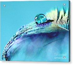 Tranquil Blue Acrylic Print by Krissy Katsimbras