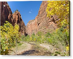 Acrylic Print featuring the photograph Tranquil Canyon Scene by John M Bailey