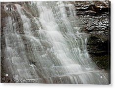 Acrylic Print featuring the photograph Tranquil Falls by Haren Images- Kriss Haren