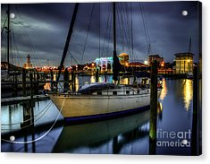 Tranquil Harbour Evening Acrylic Print by Maddalena McDonald