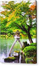 Tranquil Japanese Garden - Kenrokuen - Kanazawa - Japan Acrylic Print