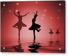 Tranquil Persuasion In Red Acrylic Print by Joyce Dickens