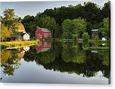 Tranquil River Reflections  Acrylic Print by George Oze
