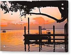 Tranquil Sunset Acrylic Print by Judy Kay