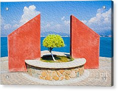 Acrylic Print featuring the digital art Tranquil Surroundings by Kenneth Montgomery