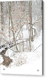 Tranquil Winters Creek Acrylic Print