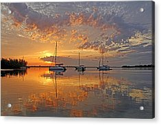 Tranquility Bay - Florida Sunrise Acrylic Print by HH Photography of Florida