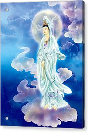 Acrylic Print featuring the photograph Tranquility Enabling Kuan Yin by Lanjee Chee