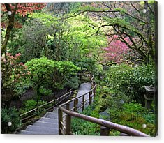 Tranquility Lane Acrylic Print by Shirley Sirois