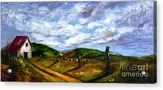 Acrylic Print featuring the painting Tranquility - Original Sold by Therese Alcorn
