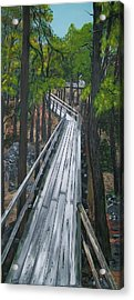 Acrylic Print featuring the painting Tranquility Trail by Sharon Duguay