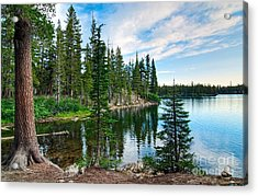 Tranquility - Twin Lakes In Mammoth Lakes California Acrylic Print by Jamie Pham
