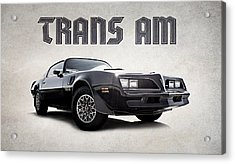 Acrylic Print featuring the digital art Trans Am by Douglas Pittman