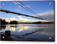 Acrylic Print featuring the photograph Transalaska Pipeline Bridge by Cathy Mahnke