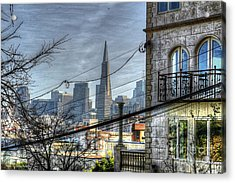 Acrylic Print featuring the photograph Transamerica View by Kevin Ashley