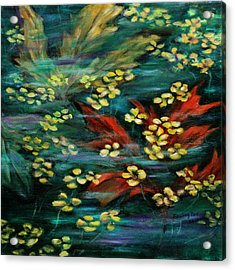 Acrylic Print featuring the painting Transforming... by Xueling Zou