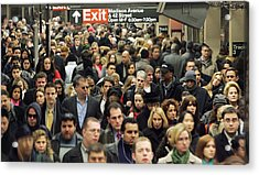 Transit Strike Looms For New York City Commuters Acrylic Print by Mario Tama