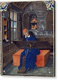 Translator At Work In His Study Acrylic Print by British Library
