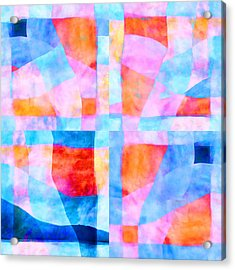 Translucent Quilt Acrylic Print by Carol Leigh