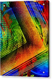 Transparency Over Color Acrylic Print by Mario Perez