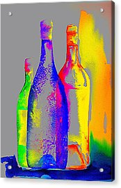 Transparent Bottles Acrylic Print by Joy Bradley