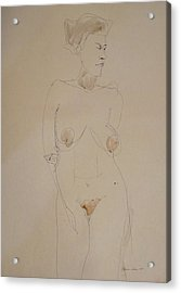 Transparent Nude Acrylic Print by Esther Newman-Cohen