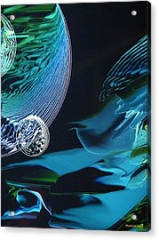 Transparent Planet Acrylic Print by Michael Kegg