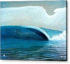 Transparent Sea Acrylic Print by Nathan Ledyard