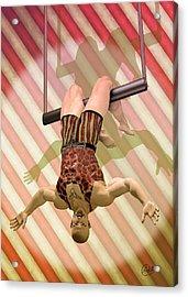 Trapeze Artist  Acrylic Print by Quim Abella