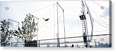 Trapeze School New York, Hudson River Acrylic Print by Panoramic Images