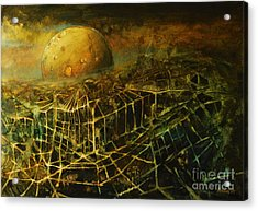 Trapped By The Moon Acrylic Print by Michal Kwarciak