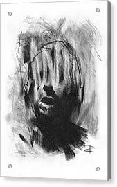 Acrylic Print featuring the drawing Gaza Trauma by Paul Davenport