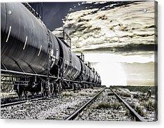 Train And Transient Acrylic Print by Brian Yasumura Jr