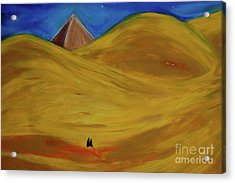 Acrylic Print featuring the drawing Travelers Desert by First Star Art