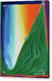 Acrylic Print featuring the painting Travelers Rainbow Waterfall By Jrr by First Star Art